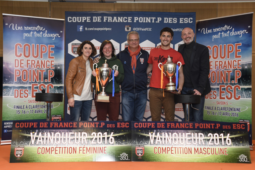 Clairefontaine - 17 Avril 2016 - Coupe de France des ESC - Final 6 - Photo Jean-Marie Hervio / DPPI pour Saint Gobain Distribution Bâtiment France -   Remise des Prix