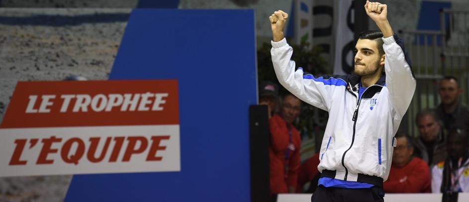 Diego Rizzi, l'italien, vainqueur de la compétition individuel hommes 2017.