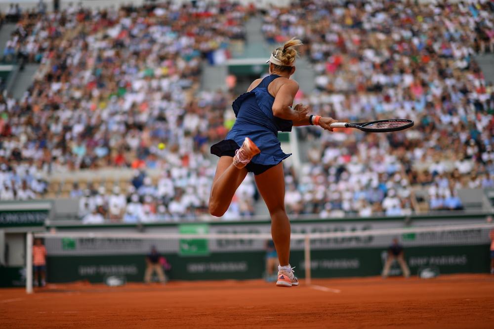 Angelique Kerber, Roland Garros 2018, Simple Dames, 1/8 de Finale, Photo : Nicolas Gouhier / FFT